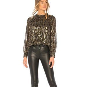 Cupcakes and Cashmere Clarisse Leopard-Print Top
